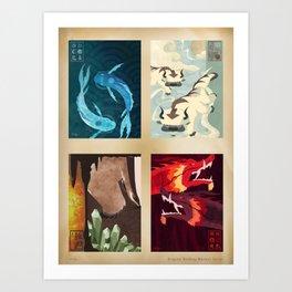Original Bending Masters Series Kunstdrucke