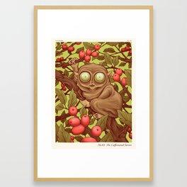 The Caffeinated Tarsier Framed Art Print