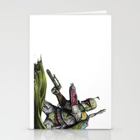 boba fett Stationery Cards featuring Boba Fett by NickHarriganArtwork