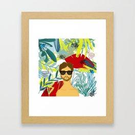 Let's be adventurers Framed Art Print