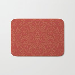 Sonora Brown Rust Mandala With Red Well Read Backdrop Bath Mat
