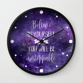 Believe In Yourself Motivational Quote Wall Clock