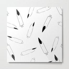Severed Fingers - Sketch Metal Print