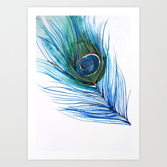 Peacock Feather I Art Print