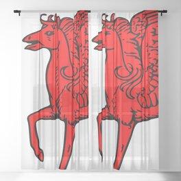 Pegasus shield 2. Sheer Curtain
