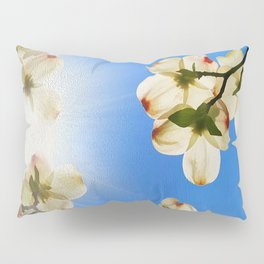 Sunlit Dogwood Blooms Pillow Sham