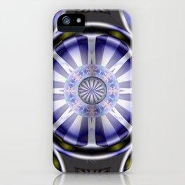Pinwheel Hubcap in Purple iPhone Case