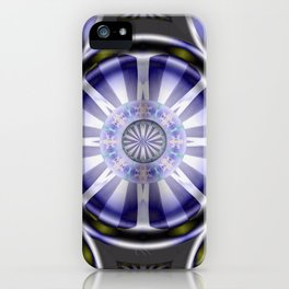 Pinwheel Hubcap in Purple iPhone Case
