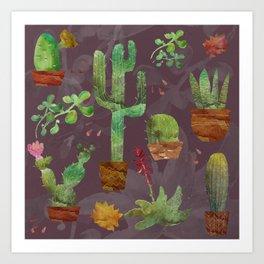 Cozy Cactus Art Print