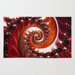 Beautiful Crimson Passion - The Heart of the Rose Fractal Rug
