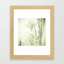 Glass flowers Framed Art Print