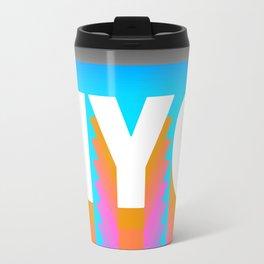 NYC colorful print design Travel Mug