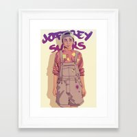 90s Framed Art Prints featuring 80/90s - A. by Mike Wrobel