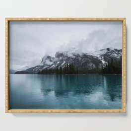 Smokey Mountains Landscape Photography Alberta Serving Tray