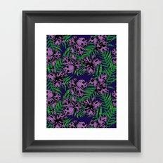 Orchid Skulls Framed Art Print