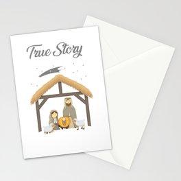 Jesus True Story Christmas Day Xmas Birth of Jesus Birth Story Celebration Stationery Cards