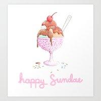 Happy Sundae Art Print