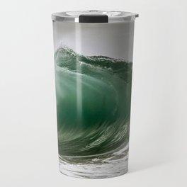 Green Barrel Spitting / Wedge Waves Travel Mug