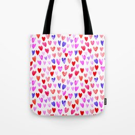 Watercolor Hearts pattern love gifts for valentines day i love you Tote Bag