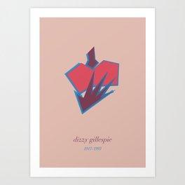Dizzie Gillespie Art Print