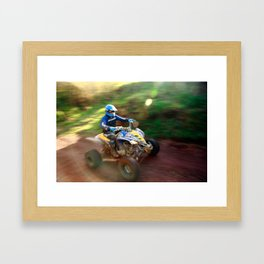 ATV offroad racing Framed Art Print