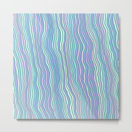 Noisy colorful stripes Metal Print