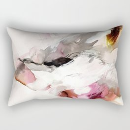 Day 23: Senses may override the mind, but a steady mind can abrogate the senses. Rectangular Pillow
