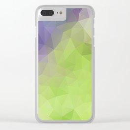 Soft grape colors geometric design Clear iPhone Case