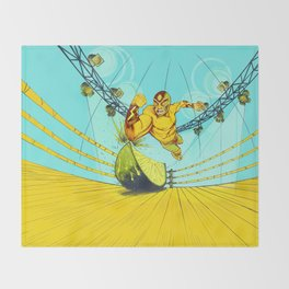 Luchador Lime Throw Blanket