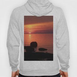 Peaceful Reflections of Nature at Dusk Hoody