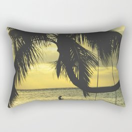 Sunset on the Island Rectangular Pillow