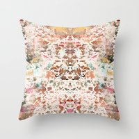 minerals Throw Pillows featuring Mystic Minerals 2 by Caroline Sansone
