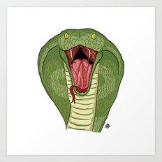 Cobra Snake Art Print