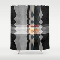 grunge Shower Curtains featuring Grunge E5 by thinschi