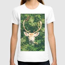 Deer Behind Leaves T-shirt