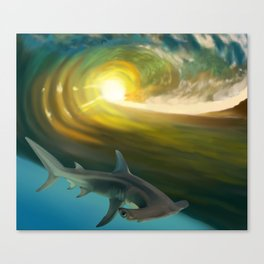 Surfin' Shark Canvas Print