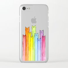Rainbow of Cats Clear iPhone Case