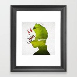 Fox Mask _side face Framed Art Print