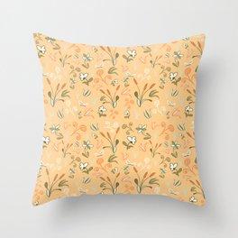 Cattail Chaos Throw Pillow