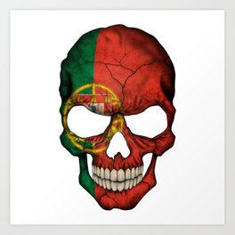 Exclusive Portugal skull design Art Print