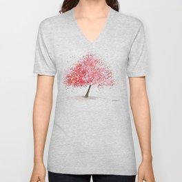 Kwanzan Cherry Tree Unisex V-Neck