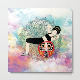 Fitness girl Japanese Traditional girl style Metal Print