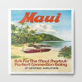 Vintage poster - Maui Metal Print