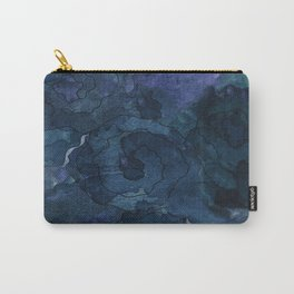 Midnight Blue Watercolor Roses Carry-All Pouch
