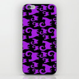 Purple Snobby Cats iPhone Skin