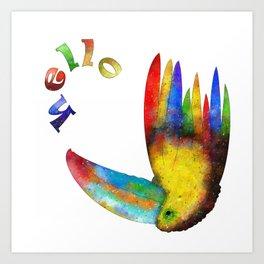 Perrafinia - colourful bird Art Print