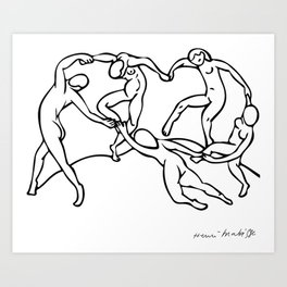 Henri Matisse The Dance and Music Line Artwork Hermitage Sketch For Prints Tshirts Posters Bags Men Art Print