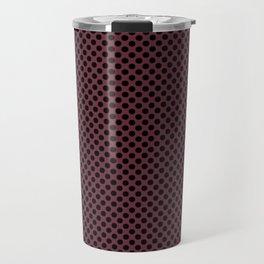 Tawny Port and Black Polka Dots Travel Mug