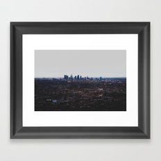 Los Angeles in fog Framed Art Print