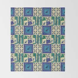 Thistle Print Quilt Coordinate Throw Blanket